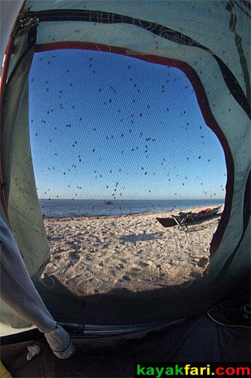 Flex Maslan kayakfari camp hell everglades cape kayak adventure heat paddle bugs noseeum screen mosquito flies sand fleas