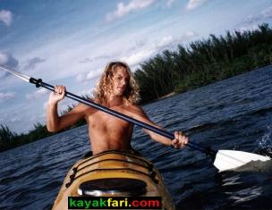 Early days of paddling in Florida Flex Maslan kayakfari