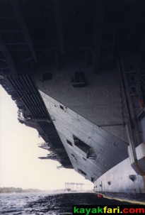 View underneath the USS Eisenhower aircraft carrier (back when you could do that kinda-thing)