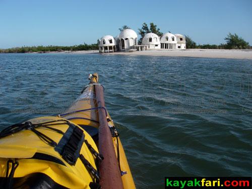 flex maslan kayakfari cape romano dome homes kayak paddle camp beach erosion florida ten thousand islands