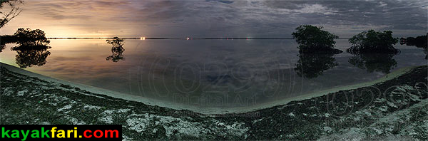 A 180 degree panoramic looking due east with Miami glow: .. or is Turkey Point glowing or both??