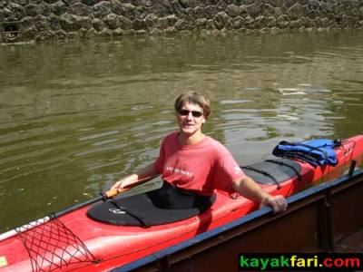 kayak Prague vltava fitness paddling kayakfari river Charles Bridge lock Flex Maslan