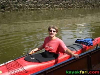 kayak Prague vltava fitness paddling kayakfari river Charles Bridge lock Flex Maslan