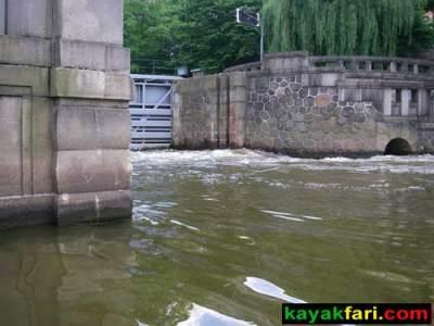 kayak Prague vltava fitness paddling kayakfari river Charles Bridge lock current
