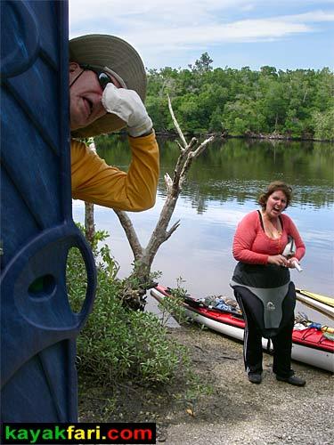 "Taking a ""break"" at the Lopez River Campsite"