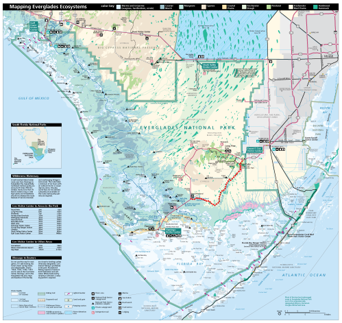 Everglades National Park Map and Route