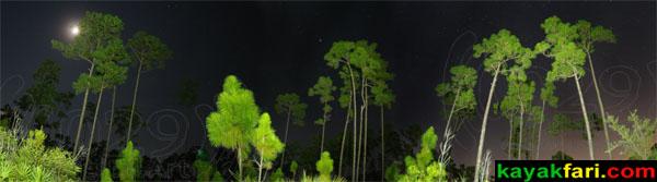 Long Pine Key Campground moonlight Everglades kayakfari