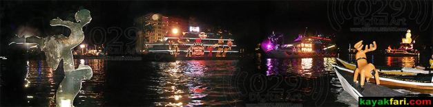 kayakfari Seminole Winterfest Boat Parade kayak lights Rudolph Santa Panoramic Flex Maslan