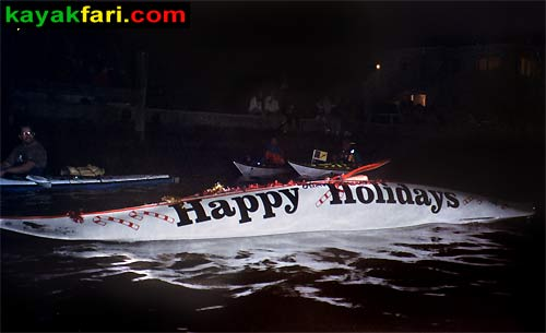 Flex Maslan Kayak Winterfest Boat Parade Christmas lights kayakfari alien Ft Lauderdale Holidays santa sombrero paddle photography