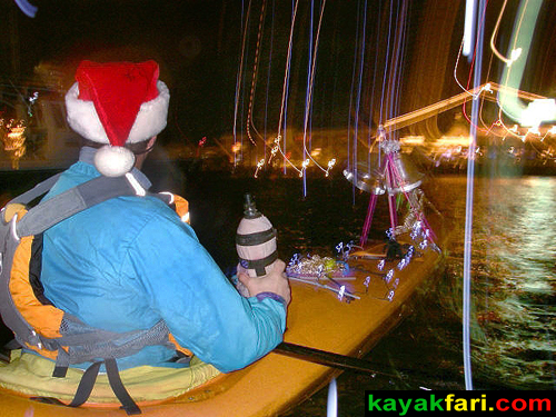 kayakfari Seminole Winterfest Boat Parade kayak lights ft lauderdale Flex Maslan photography miami paddle Holidays