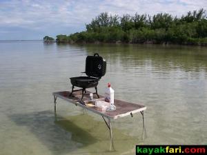 Kayak Camp Cooking Everglades kayakfari camping florida bay canoe adventure outback flats bank Keys Flex Maslan primitive photo photography