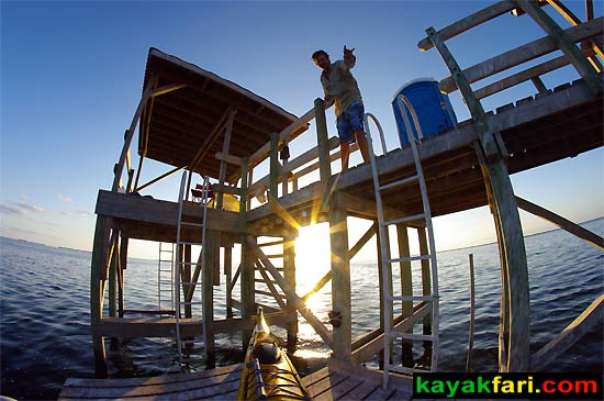 Flex Maslan Shark Point Chickee kayakfari Everglades camping platform florida bay kayak paddle mosquito keys