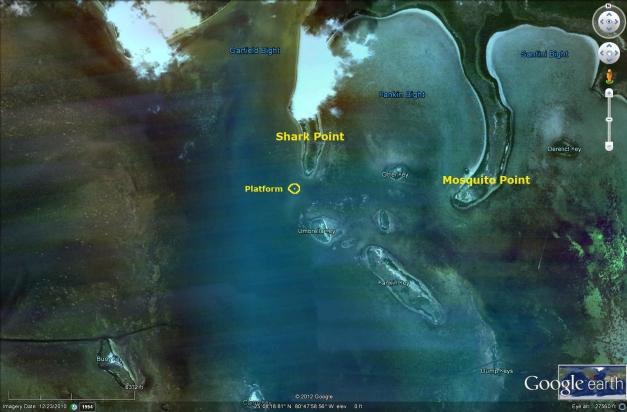 Shark Point Chickee Everglades camping platform florida bay kayakfari kayak satellite
