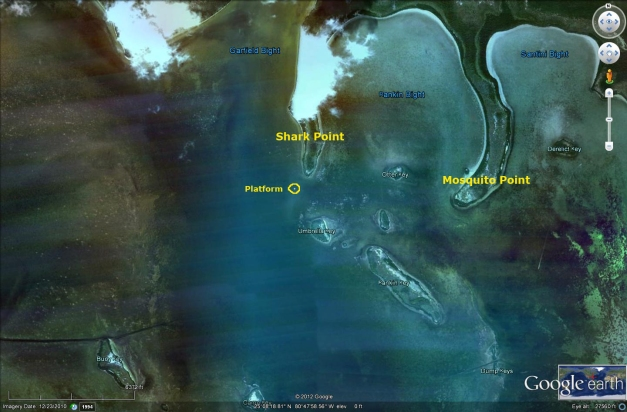Flex Maslan Shark Point Chickee kayakfari Everglades camping platform florida bay kayak paddle mosquito keys Satellite