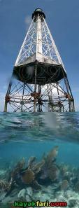 Alligator Reef Light kayakfari kayak lighthouse coral flex maslan aerial ART