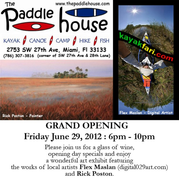 Art of Paddling exhibit the paddle house miami flex maslan rick poston