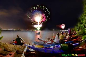 kayak july 4 miami kayakfari paddle flex maslan miami kayak club night fireworks