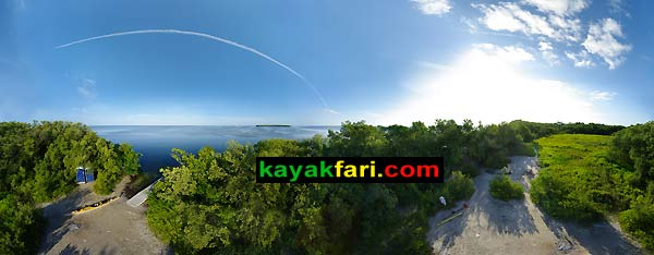 Little Rabbit Key kayakfari aerial 360 Florida Bay Flex Maslan kayak canoe kayakfari.com camping ENP Everglades Keys Bird's-eye view panorama panoramic camp fish fishing