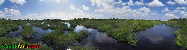 Bill Ashley Jungle Herman Lucerne backcountry Mahogany Hammock Hells Bay canoe kayak trail everglades enp kayakfari aerial birds eye 360 mangroves panorama Flex Maslan