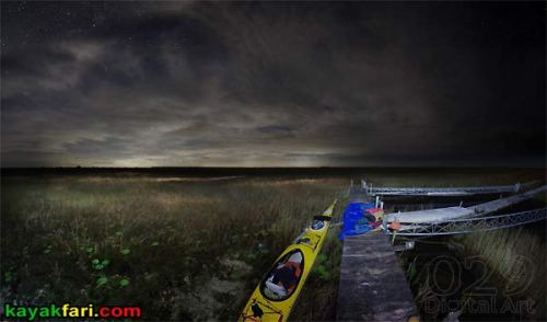 Shark River Slough Everglades expedition camping River of Grass kayakfari Flex Maslan sawgrass prairie marshall foundation miami glow science platform