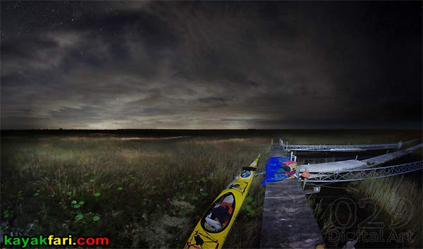 Shark River Slough Everglades expedition camping River of Grass kayakfari Flex Maslan sawgrass prairie marshall foundation miami glow science platform experimental flume