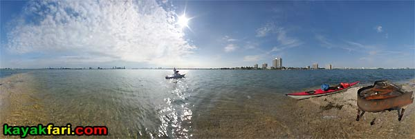 flex maslan kayakfari kayakfari.com miami piano bar kayak photography biscayne bay paddle mystery panorama