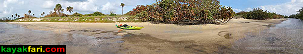 Whiskey Creek John U Lloyd kayakfari florida kayak canoe beach panorama