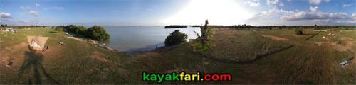 Flamingo camping Aerial kayakfari Florida Bay Everglades kayak  Flex Maslan canoe panoramic campground