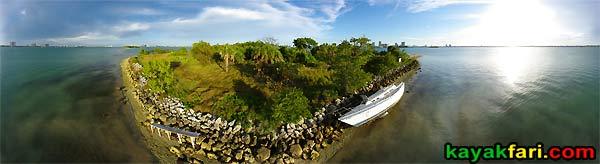 Biscayne Bay kayakfari miami kayak aerial flex maslan panorama