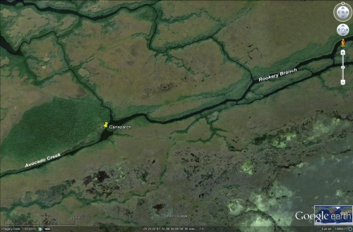 Canepatch Indian mound camping kayakfari Cane Patch satellite Flex Maslan Shark River Slough Everglades