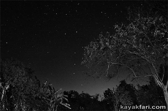 Canepatch Indian mound camping kayakfari Cane Patch night sky stars Flex Maslan Shark River Slough Everglades