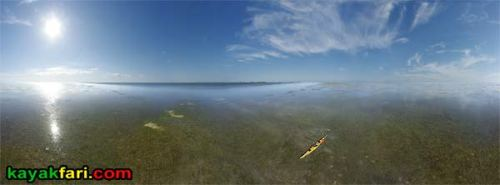 Aerial First National Bank kayakfari Florida Bay kayak Everglades Flex Maslan mud flats low tide