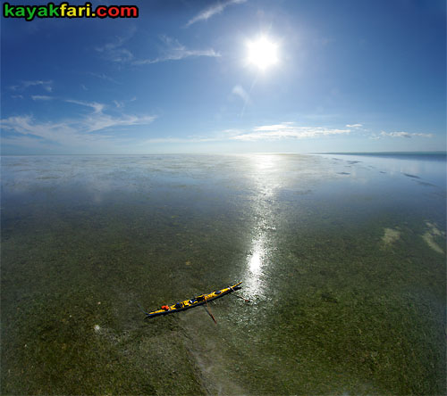 First National Bank kayakfari Florida Bay aerial kayak Everglades Flex Maslan mud flats low tide