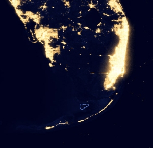 First National Bank kayakfari Florida Bay kayak Everglades Flex Maslan Night Satelite NASA Earth Observatory/NOAA NGDC
