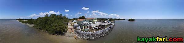 Everglades City aerial kayakfari Florida kayak Chokoloskee Bay launch ramp canoe