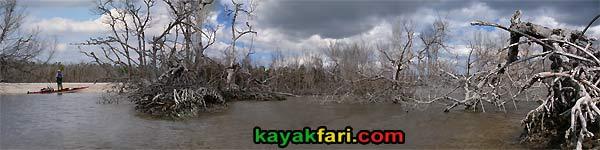 Graveyard Creek kayakfari Everglades kayak beach panorama gulf mexico flex maslan camping dark sand