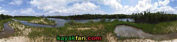 oleta river kayakfari miami kayak aerial mangrove seedling panorama canoe park nature