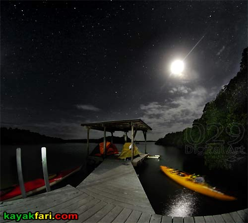 Oyster Bay kayakfari everglades chickee camp night kayak canoe panoramic wilderness waterway flex maslan paddle
