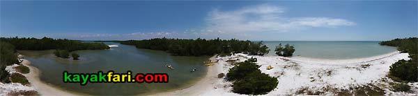 Camp LuLu kayakfari aerial everglades kayak ten thousand islands beach canoe Chokoloskee Bay lu lu Florida