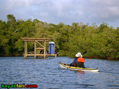Crooked Creek kayakfari everglades chickee kayak camping ten thousand islands camp flex maslan