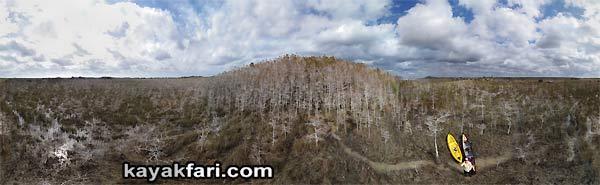 Cypress Dome kayakfari everglades aerial kayak flex maslan canoe panorama 360