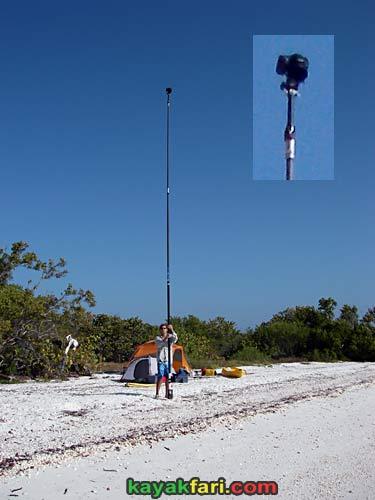 Kayak Aerial kayakfari photography pole everglades birds eye flex maslan canoe