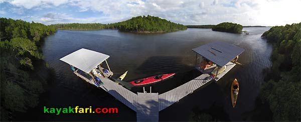 Oyster Bay kayakfari everglades aerial chickee pole camp kayak canoe panoramic wilderness waterway flex maslan paddle