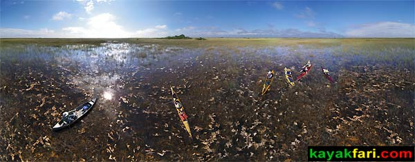 shark river slough everglades river of grass aerial pole photography sawgrass panorama camp kayakfari kayak canoe kayakfari.com birds-eye