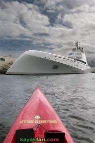 A Yacht M/Y kayakfari surfski kayak port everglades ft lauderdale flex maslan florida miami