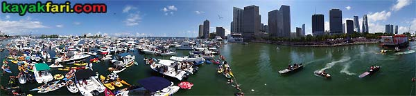 RedBull Flugtag kayakfari Miami aerial kayak biscayne downtown bay florida panoramic flex maslan paddle