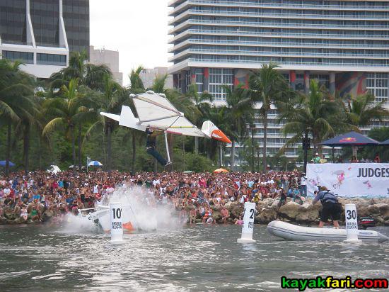 kayakfari.com RedBull Flugtag Miami kayak downtown biscayne bay flex maslan florida panoramic paddle