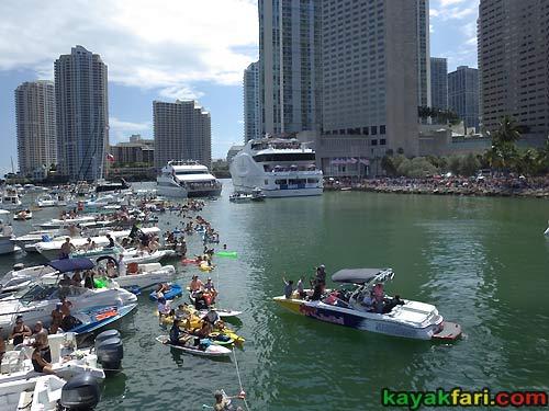 kayakfari.com RedBull Flugtag aerial Miami kayak downtown biscayne bay flex maslan florida panoramic paddle