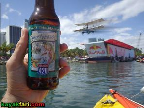 kayakfari.com RedBull Flugtag Miami kayak 420 beer downtown biscayne bay flex maslan florida panoramic paddle