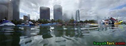 kayakfari.com RedBull Flugtag Miami kayak downtown biscayne bay florida panoramic paddle Flex Maslan